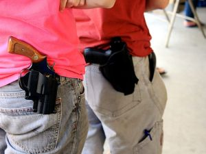 Eleven states now have some sort of law permitting guns on college campuses.