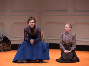Julie White and Erin Wilhelmi in A Doll's House, Part 2.