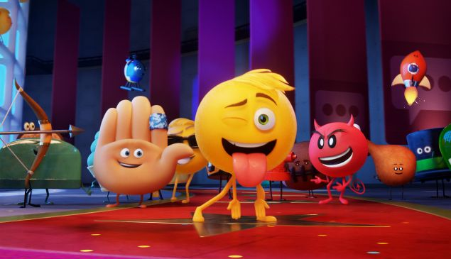 A still from Emoji Movie.