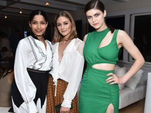 'Slumdog Millionaire' star Freida Pinto poses with Olivia Palermo and Alexandra Daddario of 'Baywatch' fame.