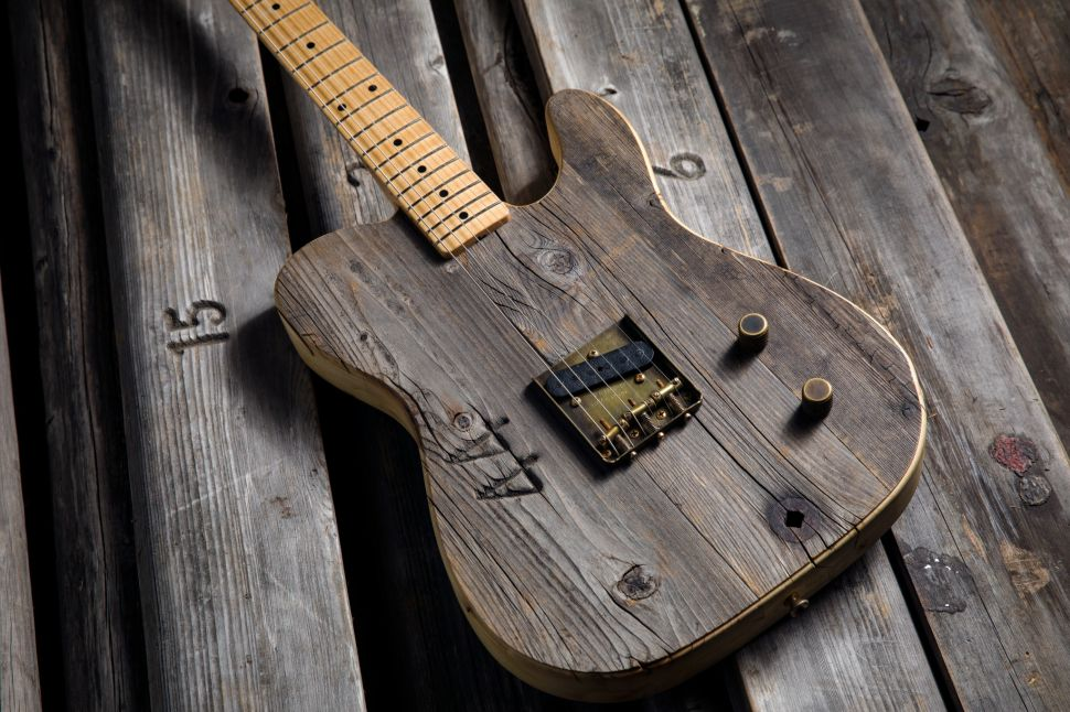 The $12,000 Custom Fender Guitar Made From Hollywood Bowl Benches