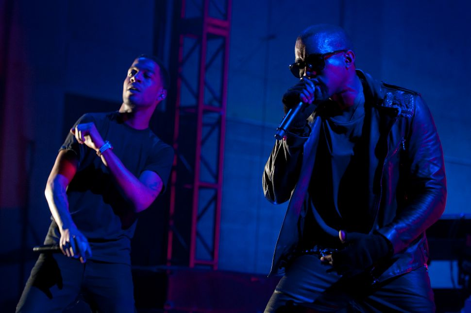 Kanye West and Kid Cudi Working on Top Secret Project