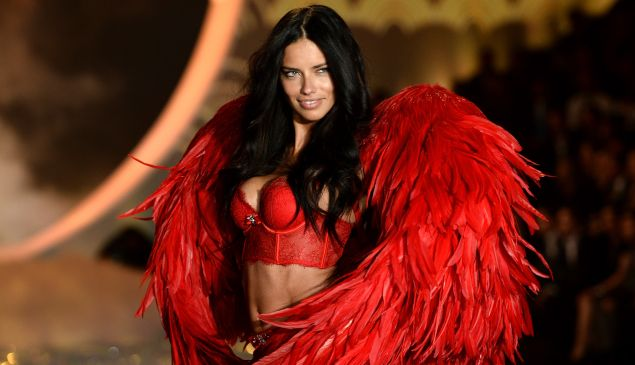 Adriana Lima walks the runway at the 2013 Victoria's Secret Fashion Show at Lexington Avenue Armory on November 13, 2013 in New York City.