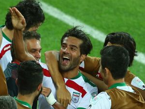 Masoud Shojaei, one of the players Iran banned.