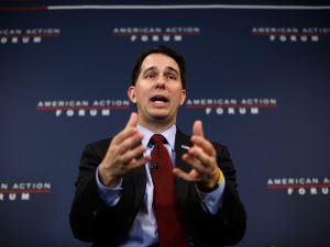Wisconsin Gov. Scott Walker wants to reduce food stamp benefits for families with children whose parents who do not work at least 80 hours a month or meet related requirements.