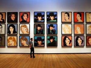 Celebrity multiples by Andy Warhol.