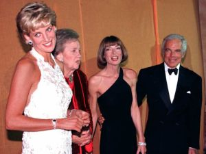 Princess Diana of Wales with Anna Wintour and Ralph Lauren.