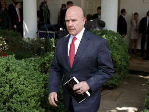 White House National Security Advisor H.R. McMaster.