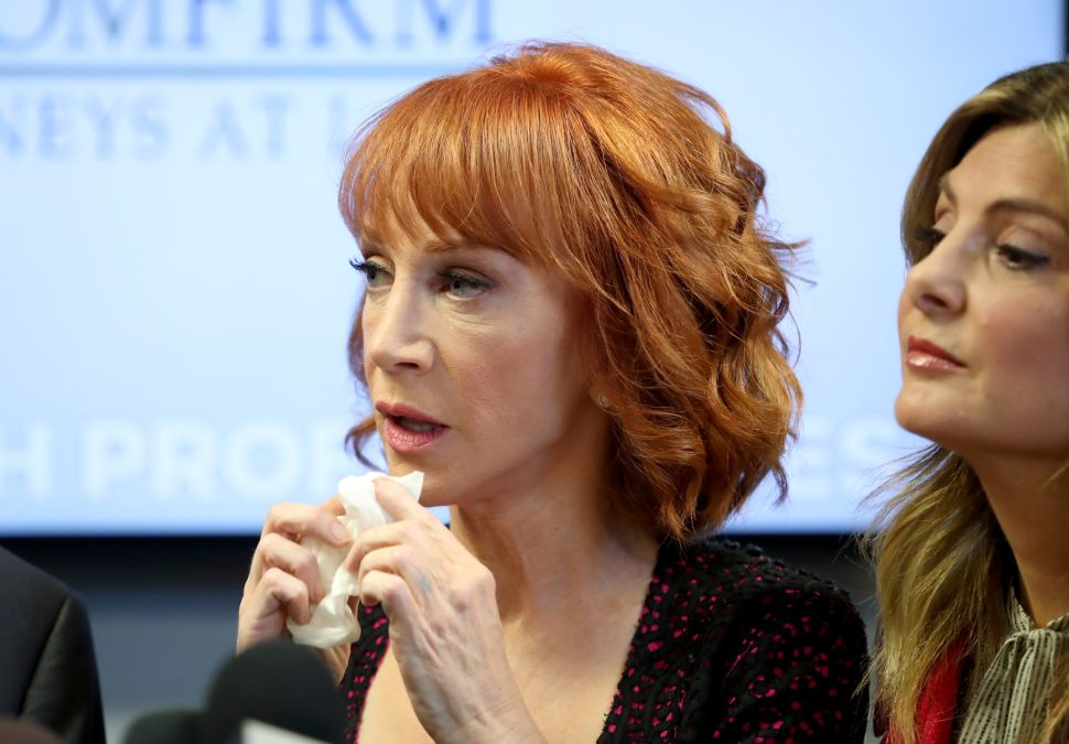 Kathy Griffin Rescinds Trump Apology, Calls It 'BS'