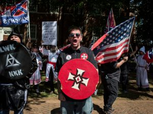 The Ku Klux Klan protests in Charlottesville, Va.