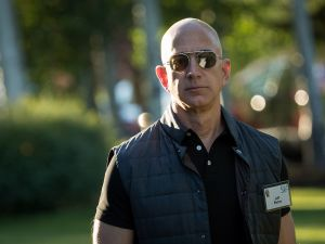 Where will Jeff Bezos decide to hang his vest?