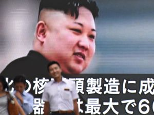 The news of an exchange of threats between the U.S. and North Korea is reported in Tokyo on Aug. 9, 2017.