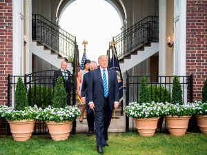 Donald Trump at Trump National Golf Club in Bedminster.