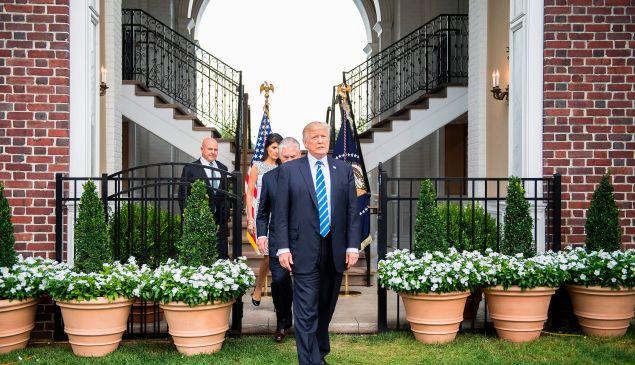 Donald Trump at Trump National Golf Club in Bedminster.
