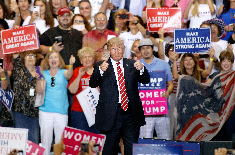 At Trump's Phoenix Rally, Cranky Old Man Throws a Temper Tantrum