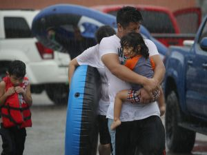 Residents evacuated Houston after Hurricane Harvey made landfall.