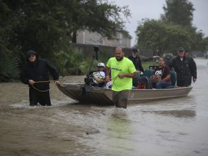 The streets of Houston flooded after Hurricane Harvey.