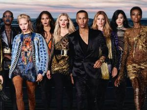 Olivier Rousteing and his diverse Balmain army.