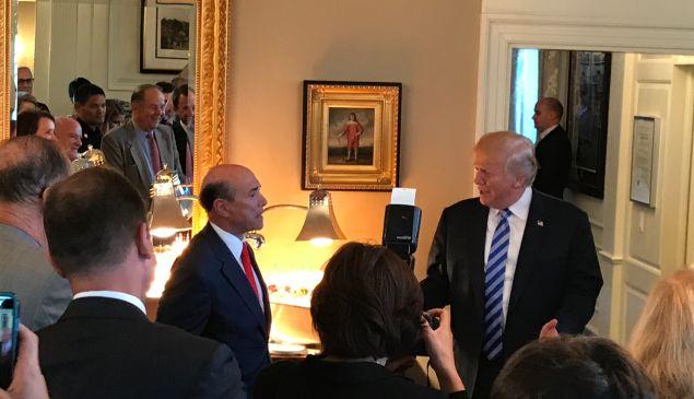 Lewis Eisenberg (left) and President Trump.
