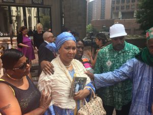 Hawa Bah, mother of Mohamed Bah, leaves meeting with acting U.S. Attorney Joon Kim about the case against the police officer who killed her son in 2012.
