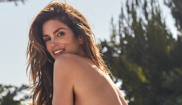 Cindy Crawford strips down for Re/Done.