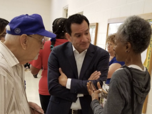 Anthony Rendon talks to constituents.