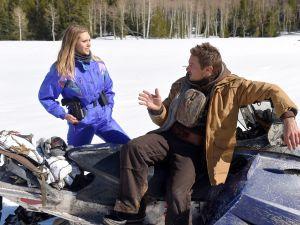 Elizabeth Olsen and Jeremy Renner star in Wind River.
