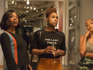 Yvonne Orji, Issa Rae and Amanda Seales in Insecure, season 2, episode 2.