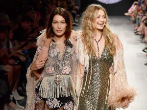 Bella and Gigi Hadid walk for Anna Sui.