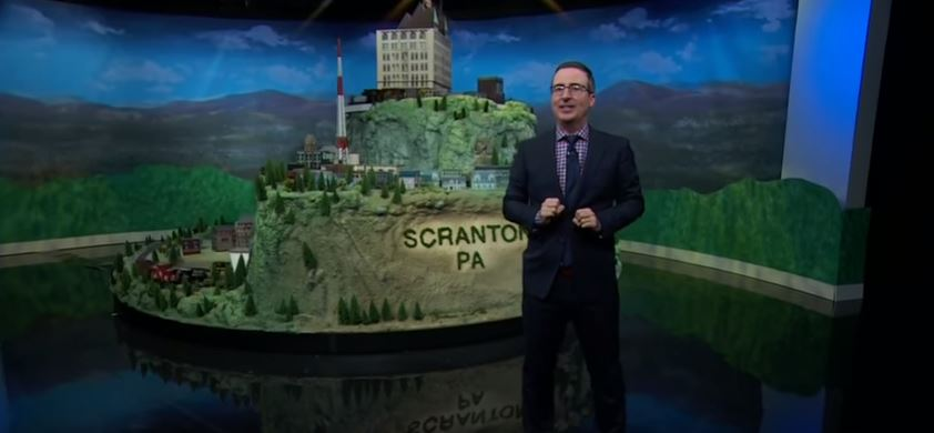 John Oliver's 'Last Week Tonight' Built a Train Set for a Pennsylvania News Station