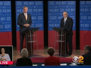 Mayor Bill de Blasio and former Brooklyn City Councilman Sal Albanese face off in the final debate before the primary.