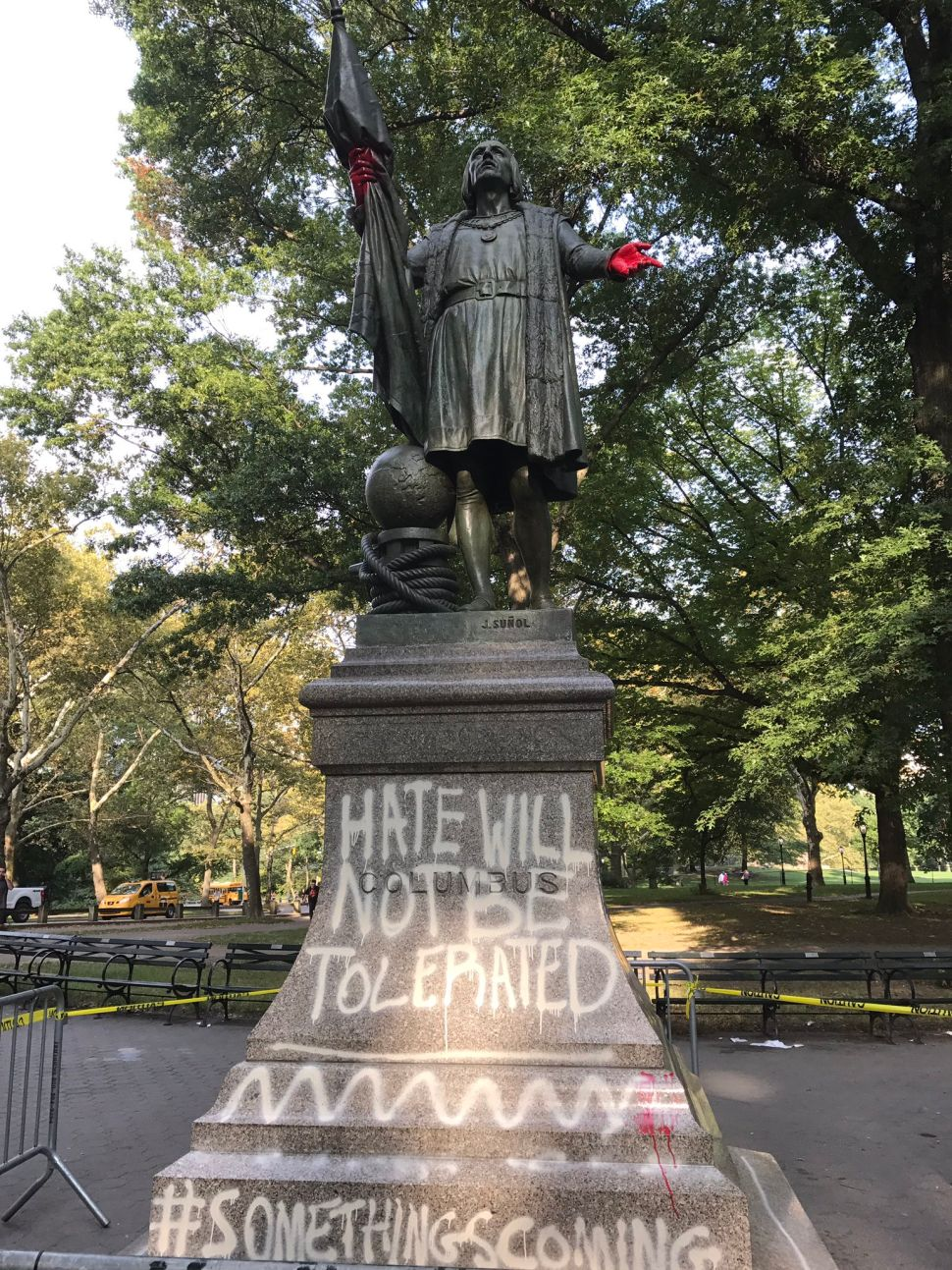 Columbus Statue Vandalized Amid Debate Over Monuments