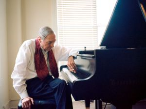 William Eggleston at the piano.