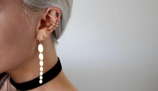 Example of multiple piercings.