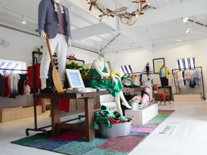 The Tommy Hilfiger Preppy Pop Up House in Piazza Duomo in Milan, Italy.