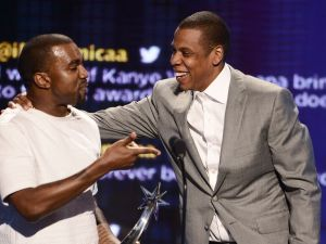 Jay Z and Kanye West.