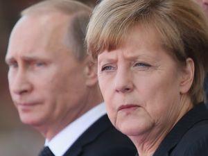 German Chancellor Angela Merkel and Russia President Vladimir Putin.