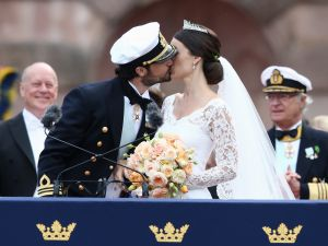 Scroll through to see how Princess Sofia, Duchess of Varmlands channels both Meghan Markle and Kate Middleton.