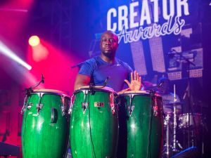 DETROIT, MI - MAY 25: Wyclef Jean performs during the WeWork Celebrates The Detroit Creator Awards.