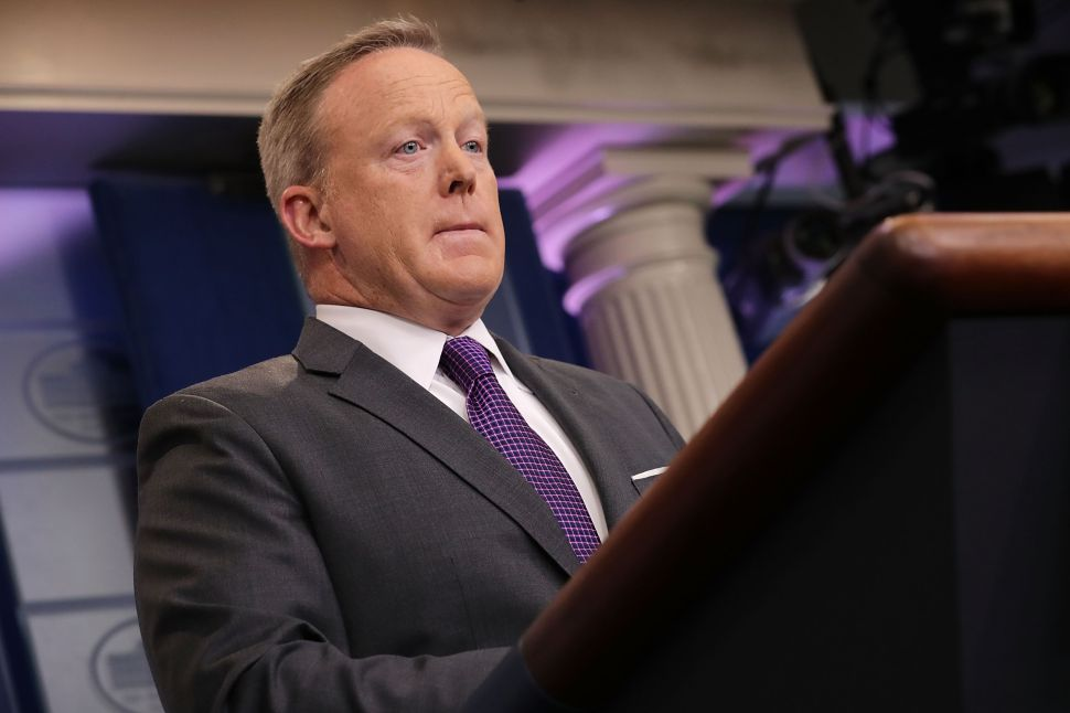 Sean Spicer May Be Close to TV, Book Deals