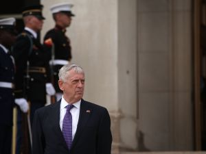 Secretary of Defense Jim Mattis at the Pentagon on August 8, 2017.