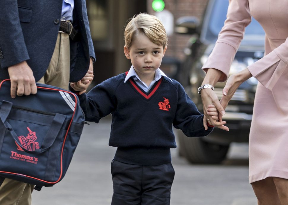 How Prince George's First Day of School Compared to Other Young Royals