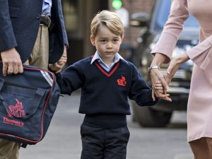Prince George doesn't have to be nervous about school now.