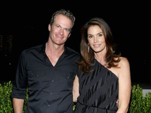 Rande Gerber and Cindy Crawford.