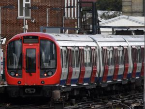 A tube train in London following the Parsons Green terror attack.