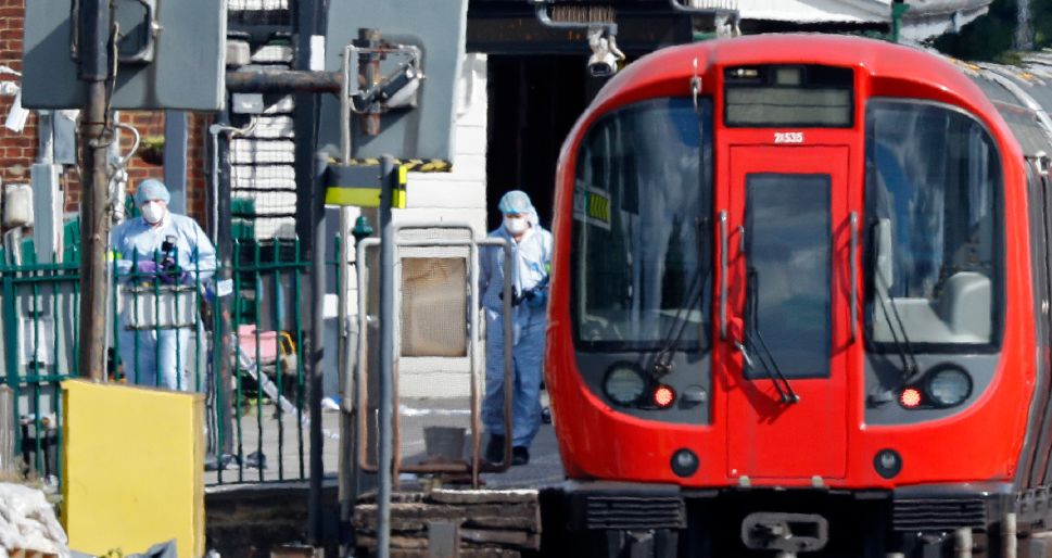 Wealthy Commuter Line of London Underground Hit by Bomb Attack