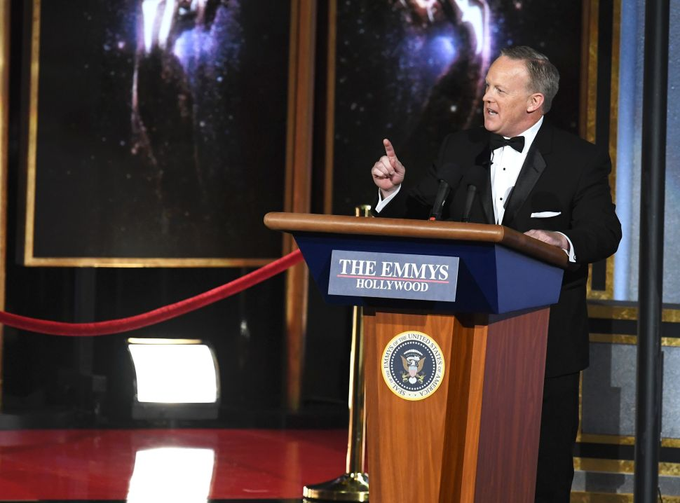 Hollywood Isn't Happy With Sean Spicer's Emmys Cameo