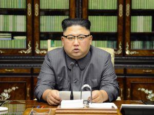 North Korean leader Kim Jong-Un on September 21, 2017 in Pyongyang.