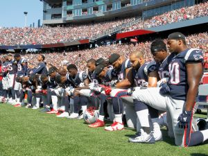 The NFL is supporting players who take a knee.