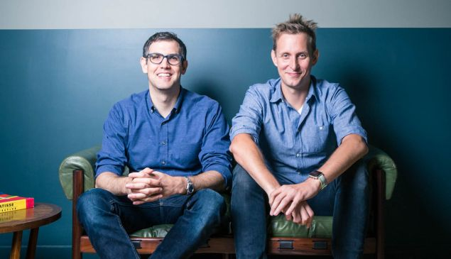 Max Krohn and Chris Coyne, co-founders of Keybase, insided WeWork-Financial District, September 2017.